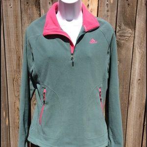 Adidas outdoor half zip fleece M
